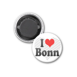 I Love Bonn, Germany 3 Cm Round Magnet
