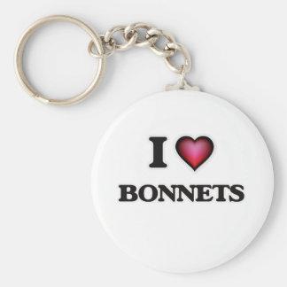 I Love Bonnets Basic Round Button Key Ring