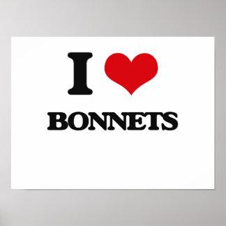 I Love Bonnets Poster