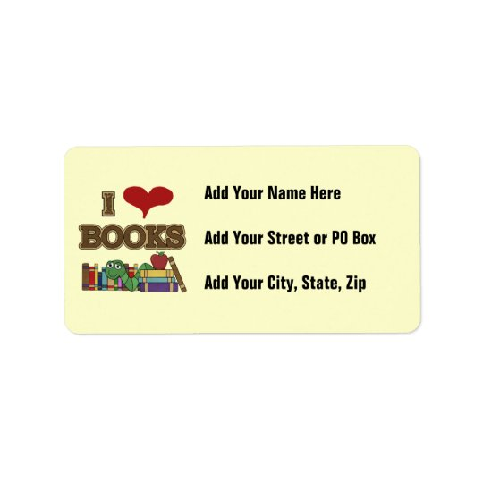 I Love Books Address Label