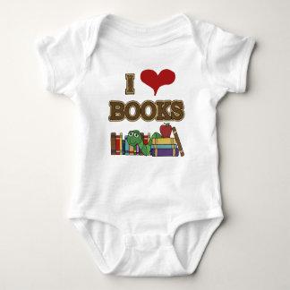 I Love Books Baby Bodysuit