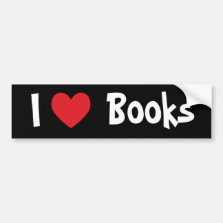 I Love Books Car Bumper Sticker