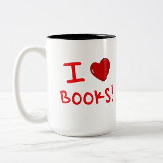 I LOVE BOOKS COFFEE MUG