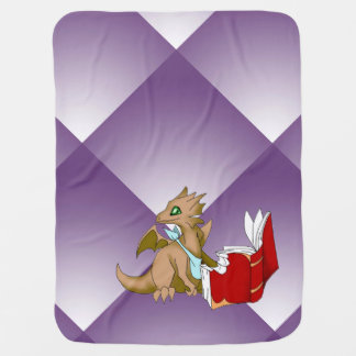 """I Love Books"" Dragon Baby Blanket"