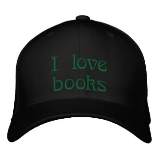 I love books embroidered hat