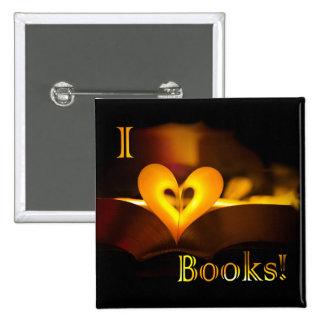 I Love Books - I 'Heart' Books (Candlelight) Pins