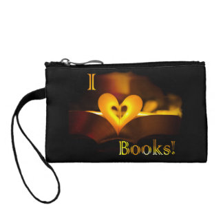 I Love Books - I 'Heart' Books (Candlelight) Coin Purse