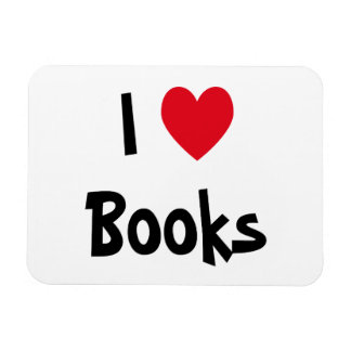 I Love Books Magnet