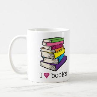 I Love Books Mug Grammatical Art Coffee Mug Gifts