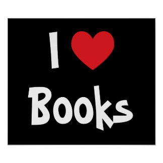 I Love Books Poster