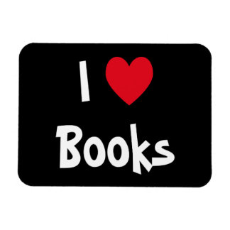 I Love Books Rectangular Photo Magnet