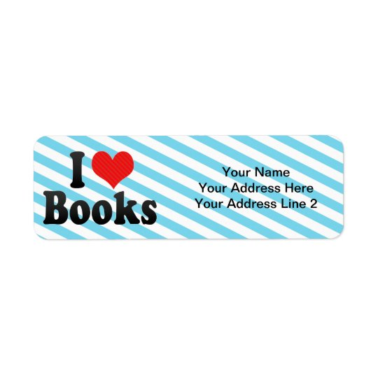 I Love Books Return Address Label