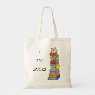 I LOVE BOOKS tote bag by Nicole Janes