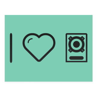 I Love Boomboxes Postcard