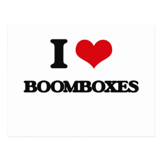 I Love Boomboxes Post Cards