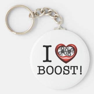 I love Boost - Supercharger Basic Round Button Key Ring
