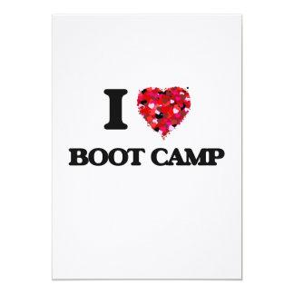 I Love Boot Camp 13 Cm X 18 Cm Invitation Card
