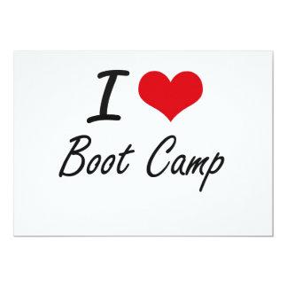 I Love Boot Camp Artistic Design 13 Cm X 18 Cm Invitation Card