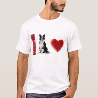 I Love Border Collies!!  Border Collie Tee