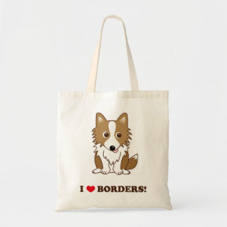 I LOVE BORDERS! Standing ear lead version Tote Bag