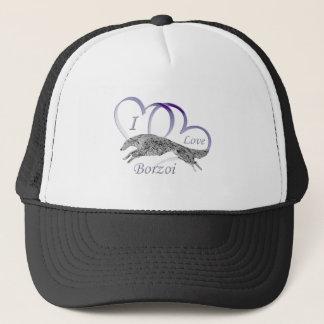 I Love Borzoi Trucker Hat