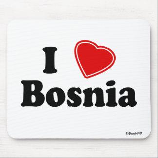 I Love Bosnia Mouse Pad