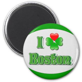i Love Boston - Clover 6 Cm Round Magnet