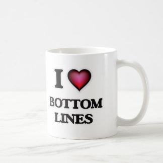 I Love Bottom Lines Coffee Mug