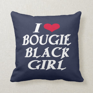 I LOVE BOUGIE BLACK GIRL CUSHION