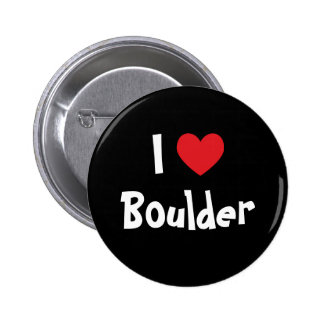 I Love Boulder 6 Cm Round Badge