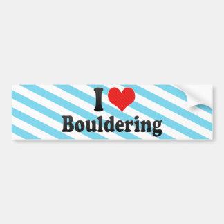 I Love Bouldering Bumper Sticker