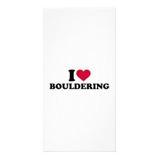 I love Bouldering Photo Greeting Card