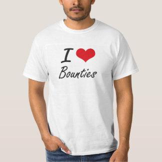 I Love Bounties Artistic Design T-shirts
