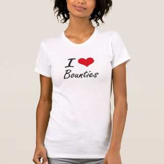 I Love Bounties Artistic Design Tshirt