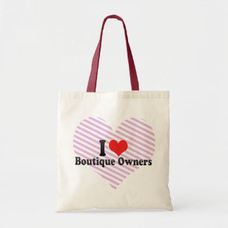 I Love Boutique Owners Canvas Bag