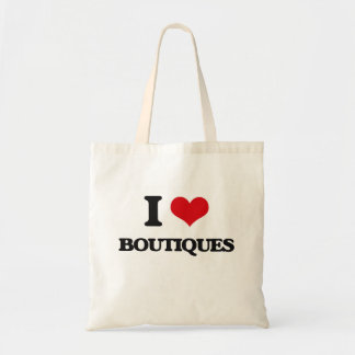 I Love Boutiques Canvas Bags