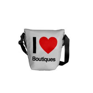 i love boutiques messenger bag