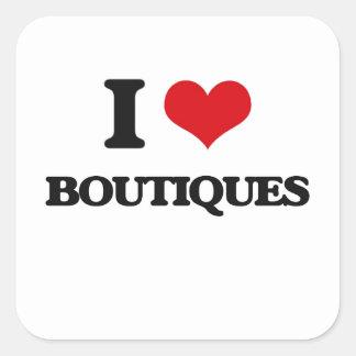 I Love Boutiques Square Sticker