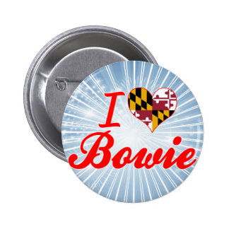 I Love Bowie, Maryland 6 Cm Round Badge