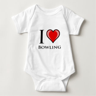 I Love Bowling Baby Bodysuit