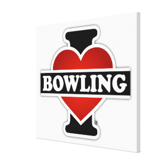 I Love Bowling Gallery Wrap Canvas