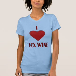 I Love BOX WINE T-shirt