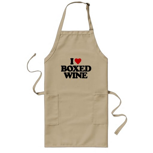I LOVE BOXED WINE APRON