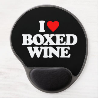 I LOVE BOXED WINE GEL MOUSE PAD