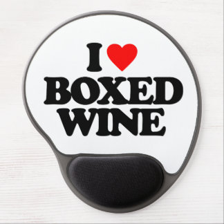 I LOVE BOXED WINE GEL MOUSE PADS