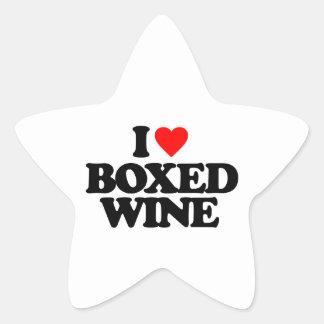 I LOVE BOXED WINE STICKERS
