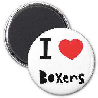 I love Boxers 6 Cm Round Magnet