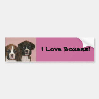 I Love Boxers Boxer Puppies bumper sticker