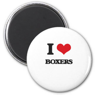 I Love Boxers Refrigerator Magnets