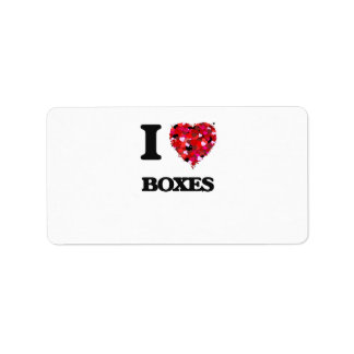 I Love Boxes Address Label